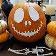 Download free 3D printing files Halloween Pumpkin Decor - Jack Skellington, jazzhands