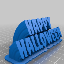 Download free 3D printer templates Happy Halloween: Creepster Sweeping 2-Line, jazzhands