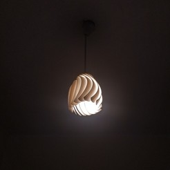 IMG_20181027_1659274x4.jpg Download STL file Finned Lampshade • Object to 3D print, luckyx182