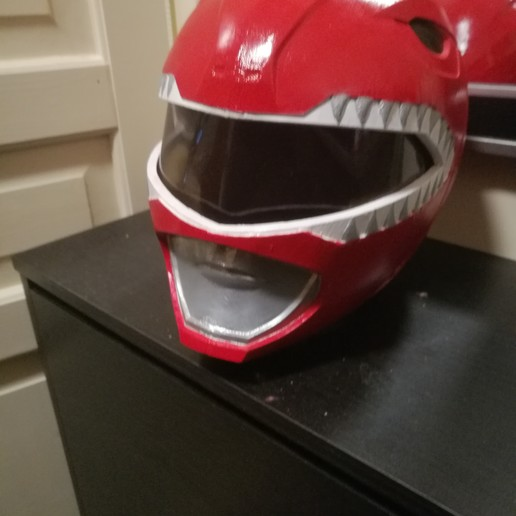 Download free 3D printing designs Power ranger red headset, Jordanpgy
