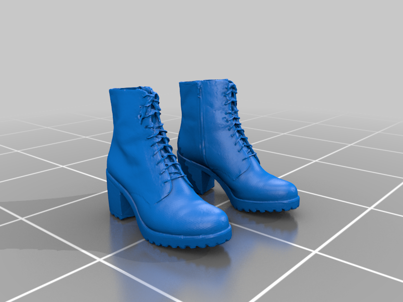 Worn_vagabond_leather_boot_women_pair.png Download free STL file Leather boots / women stiletto shoes - 3D scan - Remix • 3D printable object, Tse