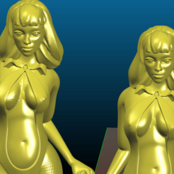 Screenshot_2020-07-17_20-50-47.png Download free STL file Vampirella - Remix - without the base, resized to 6 inch and hollowed for SLA • 3D printable template, Tse