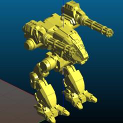 Screenshot_2020-08-10_20-12-20.png Download free STL file Robot with two gatling guns - Remix • Design to 3D print, Tse