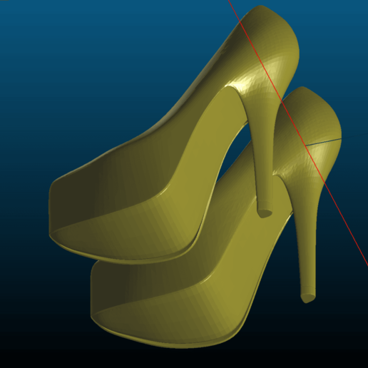 Download Free STL File High Heels Open And Closed Toe