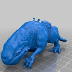 Dewback_FullTextureRemix_DaylightInventor.png Download free STL file Dewback very detailed, resized and hollowed • 3D printing model, Tse