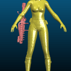 Screenshot_2020-10-04_12-26-35.png Download free STL file Girl in (sexy) tactical outfit with sci-fi gun - Remixed • 3D printer template, Tse