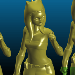 Screenshot_2020-07-17_20-41-53.png Download free STL file Ahsoka Tano in a Jedi pose - Remix - smoothed and hollowed for SLA, scale 6 inch • Template to 3D print, Tse