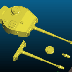 Screenshot_2020-08-06_00-06-07.png Download free 3MF file WWII German Tiger tank turret and gun - export from CGTRADER • 3D printing object, Tse
