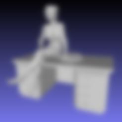 desk_fixed.stl Download free STL file Sexy teacher sitting on the desk - Remix • 3D printable object, Tse