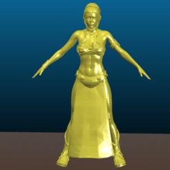 Download free STL file Star Wars - Leia slave girl - export from sketchfab - Remix • Model to 3D print, Tse