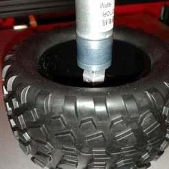 IMG_20200319_225823.jpg Download free STL file 1/10 RC wheel hub adapter hex 12mm to geared motor 4mm shaft • 3D printable template, Tse