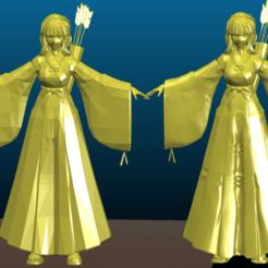 Screenshot_2020-07-20_22-03-37.png Télécharger fichier STL gratuit Figurine d'archer Kikyo - Figurine d'animation japonaise - Enchantée • Plan imprimable en 3D, Tse