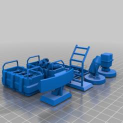 Hangarbits_fixed.png Download free STL file Star Wars Hangar bits by McAnultyMiniatures - fixed • 3D printer object, Tse