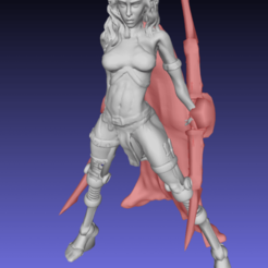 Screenshot_2020-08-12_09-10-14.png Download free STL file Sabe (Sylph/Air Gensasi assassin) without base and fixed - Remix • 3D printer design, Tse