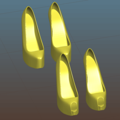 Screenshot_2020-07-20_04-29-05.png Download free STL file High heels open and closed toe (female shoes) - Remix • 3D printer template, Tse