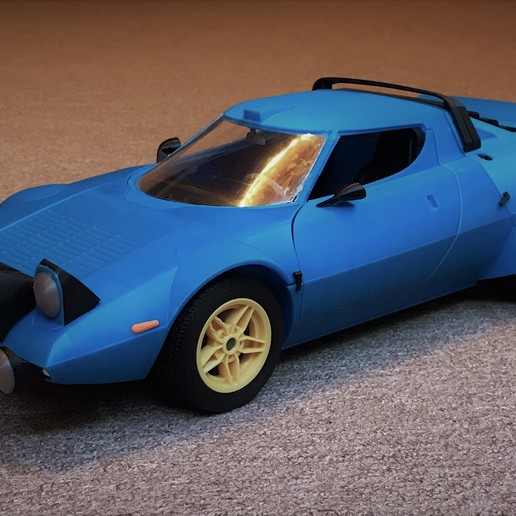 Download 3D printer files Lancia Stratos - 1:10 scale model kit, Marek_Dovjak