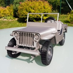 Download 3D printer model Jeep Willys - detailed 1:9 scale model kit, Marek_Dovjak