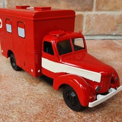 Download 3D print files Praga RN ambulance - 1/43 scale model, Marek_Dovjak