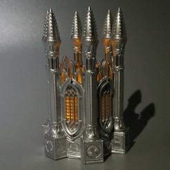 Download 3D printing designs GOTHIC TEA LIGHT LANTERN 1, furio3d