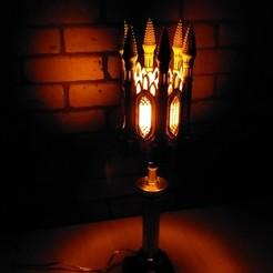 Download STL GOTHIC LAMP SHADE 2, furioprints