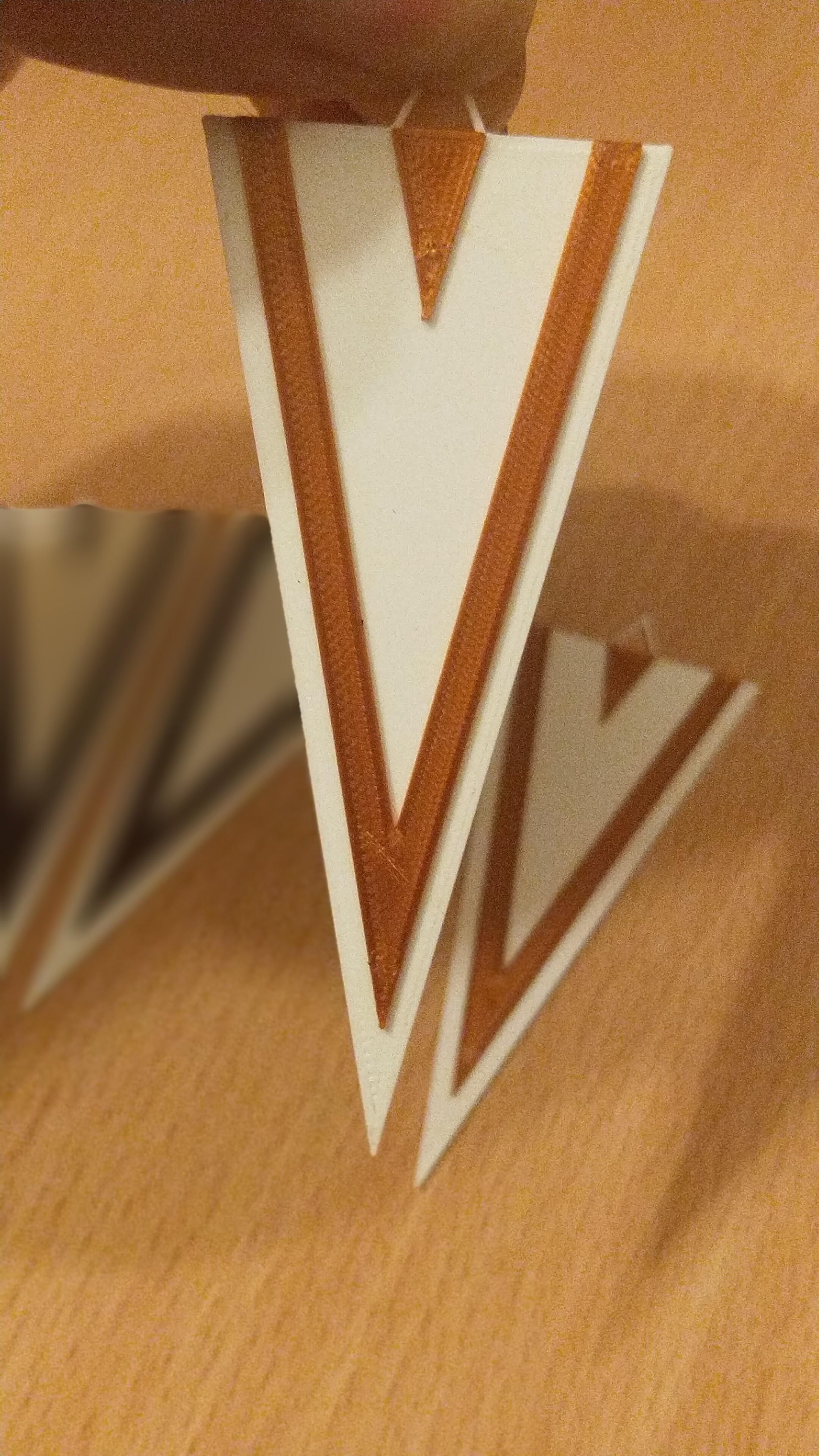 pendiente triangulo 1.jpg Télécharger fichier STL gratuit Pendiente / Boucle d'oreille • Objet pour impression 3D, amg3D