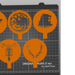 Descargar modelos 3D gratis Game of thrones coffee stencil, amg3D