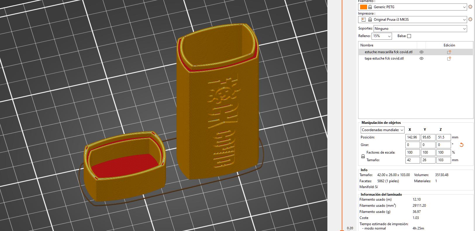 laminado.png Download STL file Estuche mascarilla f*ck covid • Design to 3D print, amg3D