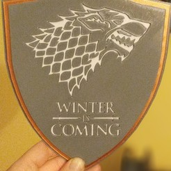 stark.jpg Download STL file Winter is coming • Template to 3D print, amg3D