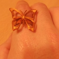 anillo mariposa 1.jpg Download free STL file Anillo / Ring Mariposa • 3D printable object, amg3D