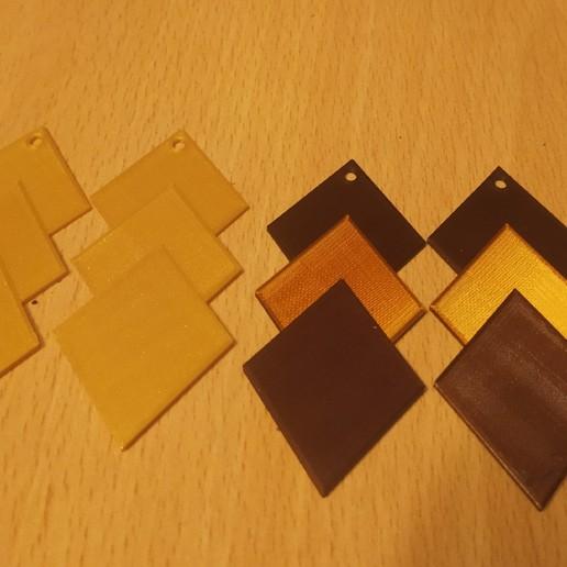 pendientes oro marrones.jpg Télécharger fichier STL gratuit Pendiente / Boucle d'oreille • Objet pour impression 3D, amg3D