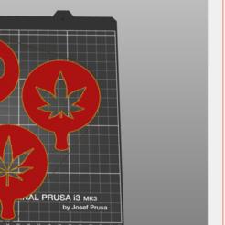 Impresiones 3D cannabis stencil, amg3D