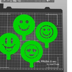 emoticonos 1.png Download STL file Stencil emoticons • 3D printer template, amg3D