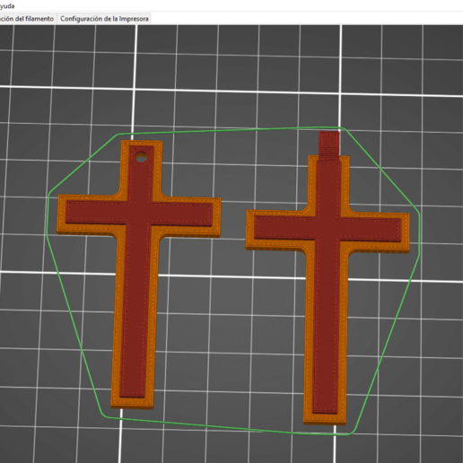 cruz 2.png Download free STL file Pendiente / Colgante • 3D printable design, amg3D