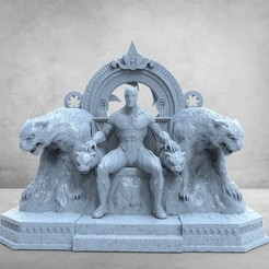photo_2020-11-26_02-04-01.jpg Download STL file Black Phanter On Throne • 3D printable design, printable_designs_3d
