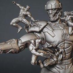 Descargar modelos 3D para imprimir Centinela Diorama  x men , printable_designs_3d