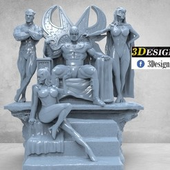untitled.30.jpg Download STL file Magneto Family • 3D printing object, printable_designs_3d