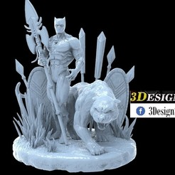 untitled.18.jpg Download STL file BLACK PANTHER • 3D printer template, printable_designs_3d
