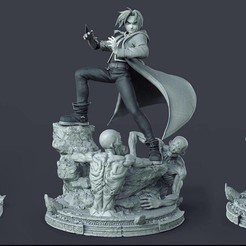 69401772_425878504939594_18570334781308928_n.jpg Download STL file Edward Elric • 3D printer design, printable_designs_3d