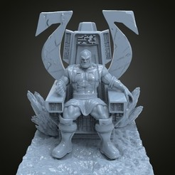 untitled.1.jpg Download STL file DARKSEID ON THRONE • 3D printable design, printable_designs_3d