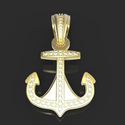 Dije Ancla.78.jpg Download OBJ file I said Anchor • 3D printing object, Beto19