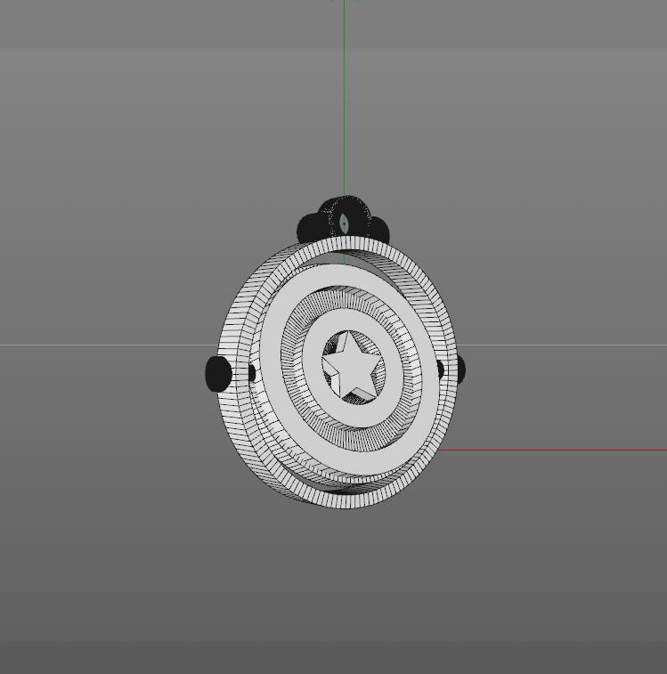 3.png Download free STL file KEYCHAIN CAPTAIN AMERICA • 3D printing model, JhonJTR