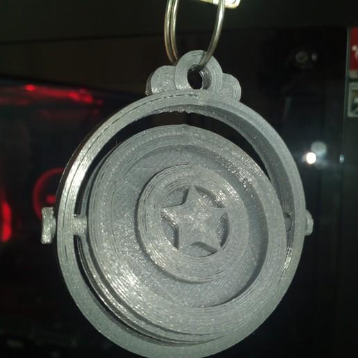 IMG_20190918_130331.jpg Download free STL file KEYCHAIN CAPTAIN AMERICA • 3D printing model, JhonJTR