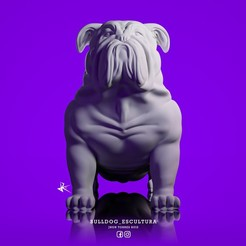 Download 3D printing models BULLDOG_INGLES_SCULPTURE_DOG_BULDOGS, JhonJTR