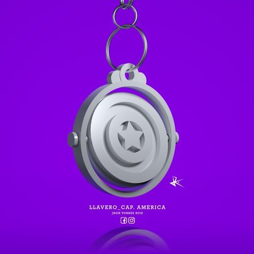 Llavero_Capitan_America_3D_Render_2.Denoiser11.jpg Download free STL file KEYCHAIN CAPTAIN AMERICA • 3D printing model, JhonJTR