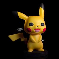 POKEMON_FUNKO_PIKACHU_1.jpg Download STL file PIKACHU POKEMON FUNKO POP COLLECTION • 3D printer object, JhonJTR