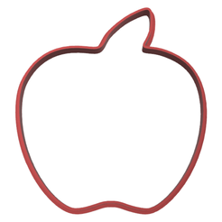 manzana contorno display.fw.png Download STL file cookie-cutter apple • Model to 3D print, LALTEZ3D