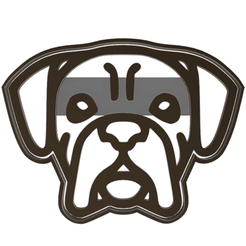 perro boxer.fw.png Download STL file boxer head cookie cutter • Object to 3D print, LALTEZ3D