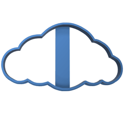nube display.fw.png Download STL file Cookie Cutting Cloud • 3D printable model, LALTEZ3D