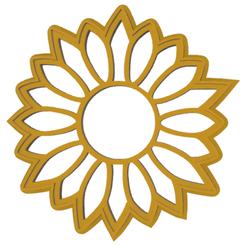 girasol.fw.png Download STL file cookie-cutter sunflower • 3D printer template, LALTEZ3D