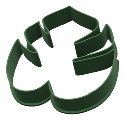 hoja tropical display.fw.png Download STL file tropical cookie-cutter leaf • 3D printer object, LALTEZ3D